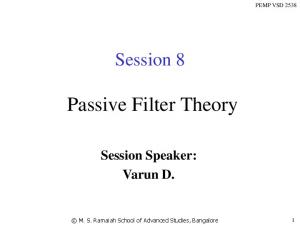 Passive Filter Theory
