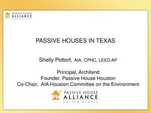 PASSIVE HOUSES IN TEXAS
