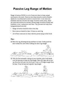 Passive Leg Range of Motion
