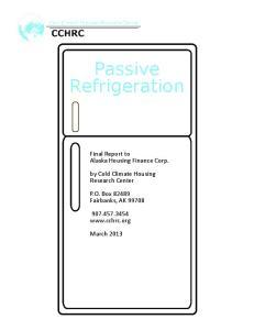 Passive Refrigeration