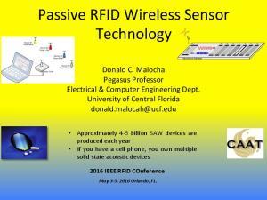 Passive RFID Wireless Sensor Technology f 1 f 4 f 2 f 6 f 0 f 5 f 3