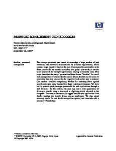 PASSWORD MANAGEMENT USING DOODLES