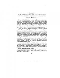 PAST PRACTICE AND THE ADMINISTRATION OF COLLECTIVE BARGAINING AGREEMENTS