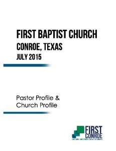 Pastor Profile & Church Profile