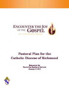 Pastoral Plan for the Catholic Diocese of Richmond