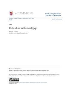 Pastoralism in Roman Egypt
