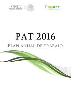 PAT Plan anual de trabajo