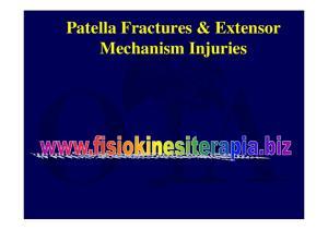 Patella Fractures & Extensor Mechanism Injuries
