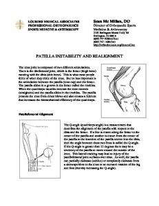 PATELLA INSTABILITY AND REALIGNMENT