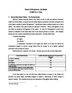 Patent Infringement- the Basics