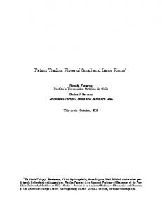 Patent Trading Flows of Small and Large Firms 1
