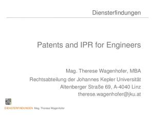 Patents and IPR for Engineers