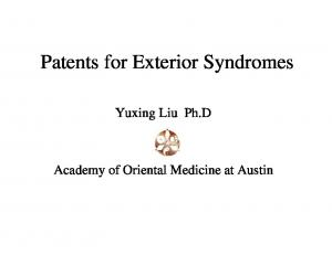 Patents for Exterior Syndromes