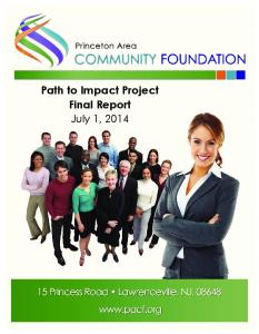 Path to Impact Project Final Report. July 1, 2014