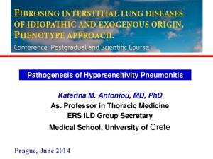 Pathogenesis of Hypersensitivity Pneumonitis