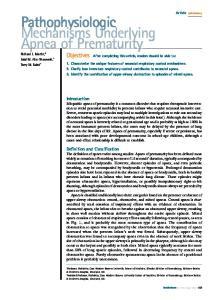 Pathophysiologic Mechanisms Underlying Apnea of Prematurity