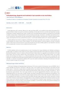 Pathophysiology, diagnosis and treatment of peri-operative acute renal failure