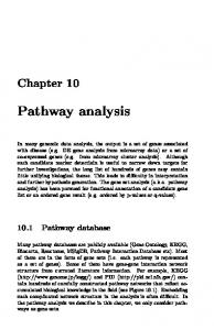 Pathway analysis. Chapter Pathway database