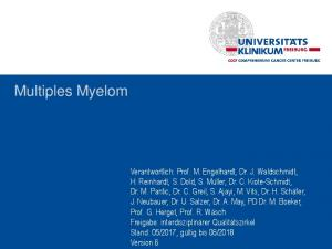 Pathway for diagnosis, management and treatment of multiple myeloma (MM)