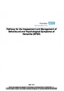 Pathway for the Assessment and Management of Behavioural and Psychological Symptoms of Dementia (BPSD)