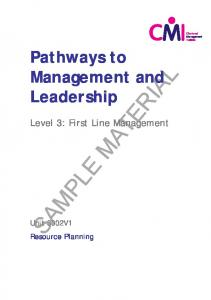 Pathways to Management and Leadership