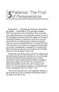 Patience: The Fruit of Perseverance