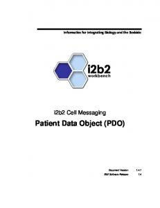 Patient Data Object (PDO)