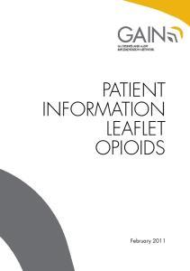 PATIENT INFORMATION LEAFLET OPIOIDS