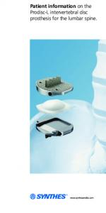 Patient information on the Prodisc-L intervertebral disc prosthesis for the lumbar spine