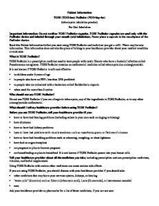 Patient Information TOBI (TOH-bee) Podhaler (POD-hay-ler) (tobramycin inhalation powder) For Oral Inhalation