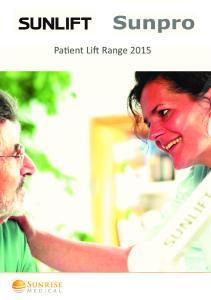 Patient Lift Range 2015