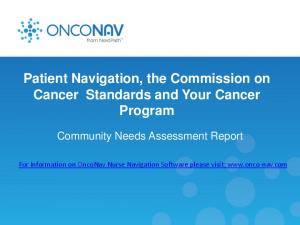 Patient Navigation, the Commission on Cancer Standards and Your Cancer Program