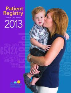 Patient Registry. Annual Data Report