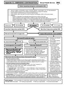 Patient requesting emergency contraception (EC)