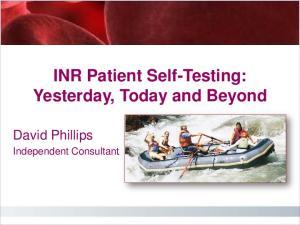 Patient Self-Management Beginnings Warfarin
