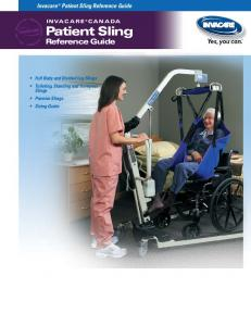 Patient Sling. Reference Guide. Invacare Patient Sling Reference Guide