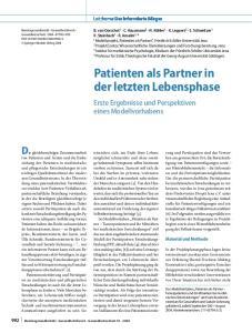 Patienten als Partner in der letzten Lebensphase