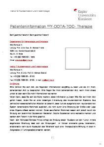 Patienteninformation 90 Y-DOTA-TOC- Therapie