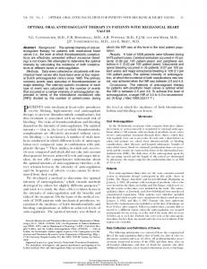 PATIENTS with mechanical heart-valve prostheses