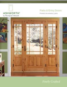Patio & Entry Doors. Puertas de entrada y patio. Finely Crafted.  1