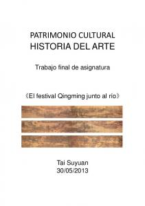 PATRIMONIO CULTURAL HISTORIA DEL ARTE
