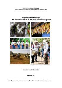 Patrimonio Cultural Inmaterial del Paraguay1