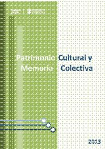 Patrimonio Cultural y Memoria Colectiva