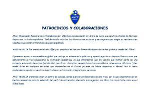 PATROCINIOS Y COLABORACIONES