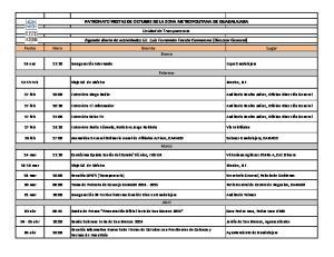 PATRONATO FIESTAS DE OCTUBRE DE LA ZONA METROPOLITANA DE GUADALAJARA
