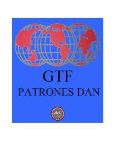 PATRONES TRADICIONALES (GRADOS DAN)