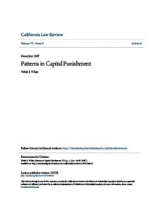 Patterns in Capital Punishment