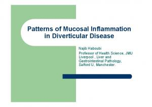 Patterns of Mucosal Inflammation in Diverticular Disease