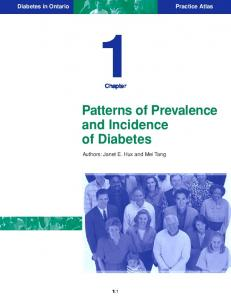 Patterns of Prevalence and Incidence of Diabetes