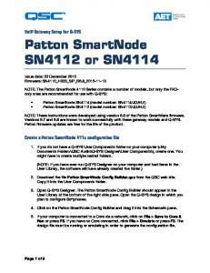 Patton SmartNode SN4112 or SN4114